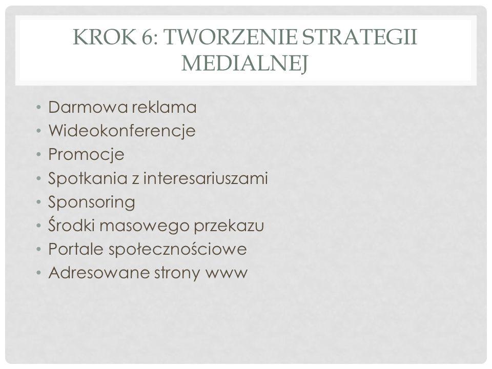 Krok 6: Tworzenie strategii medialnej