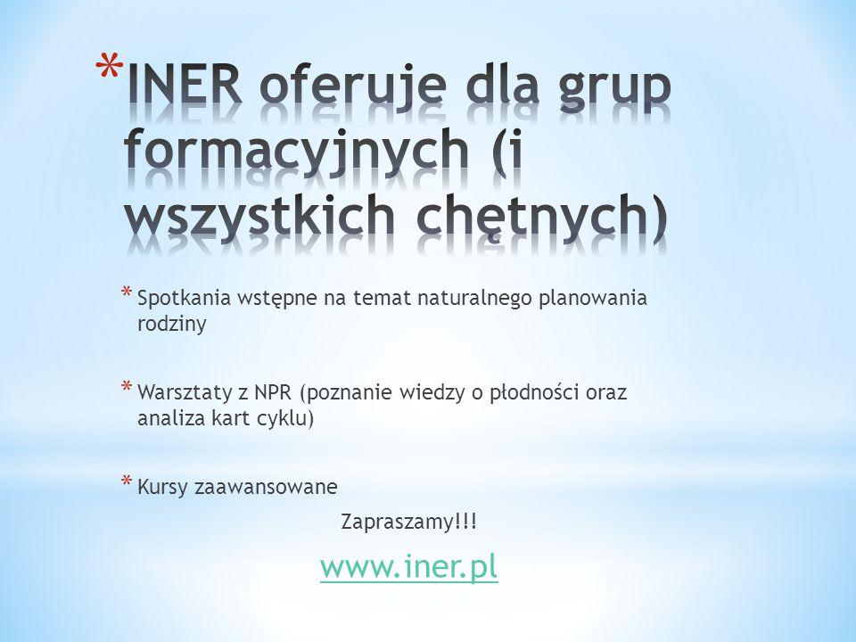 INER oferuje dla grup formacyjnych (i wszystkich chętnych)