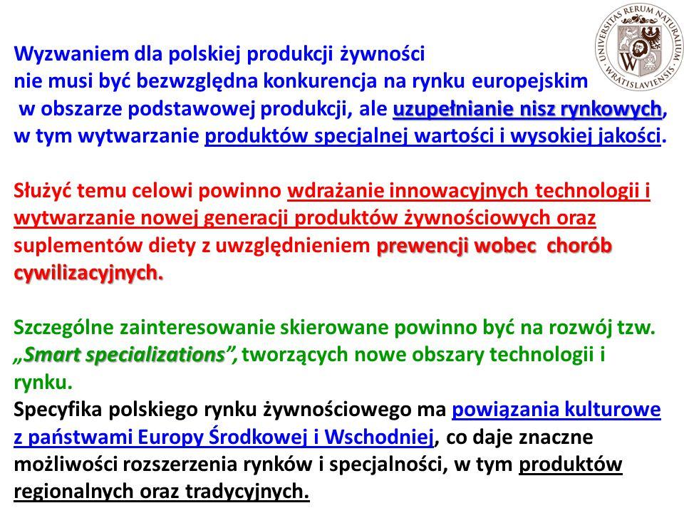 Wyzwaniem dla polskiej produkcji żywności