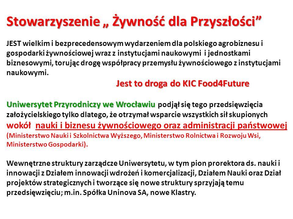 """Stowarzyszenie """" Żywność dla Przyszłości"""