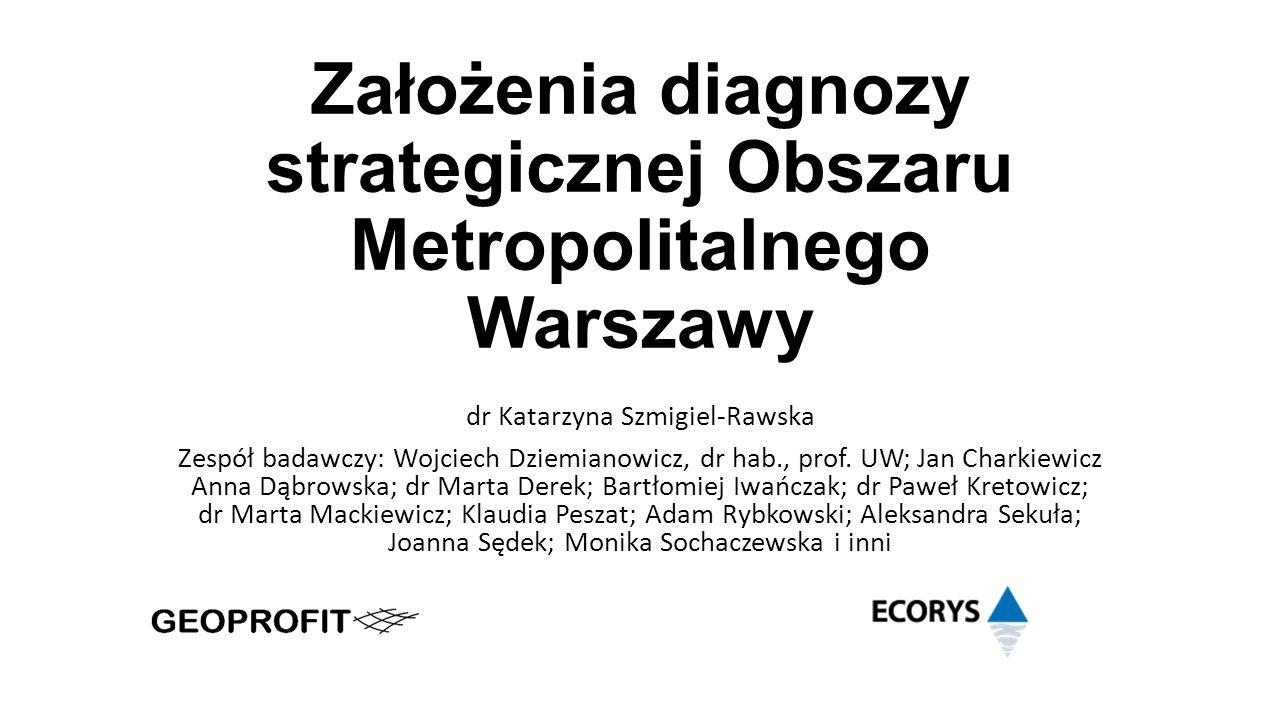 Założenia diagnozy strategicznej Obszaru Metropolitalnego Warszawy