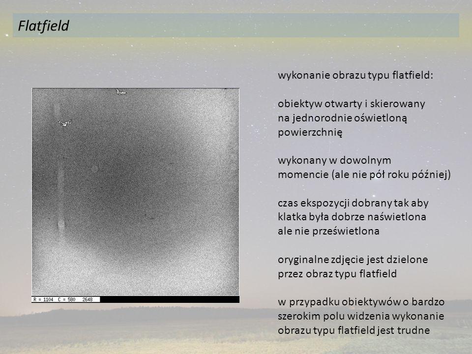 Flatfield wykonanie obrazu typu flatfield: