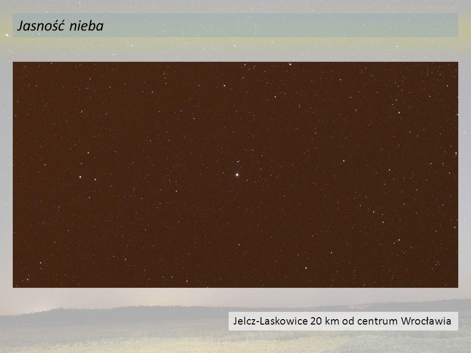 Jasność nieba Jelcz-Laskowice 20 km od centrum Wrocławia