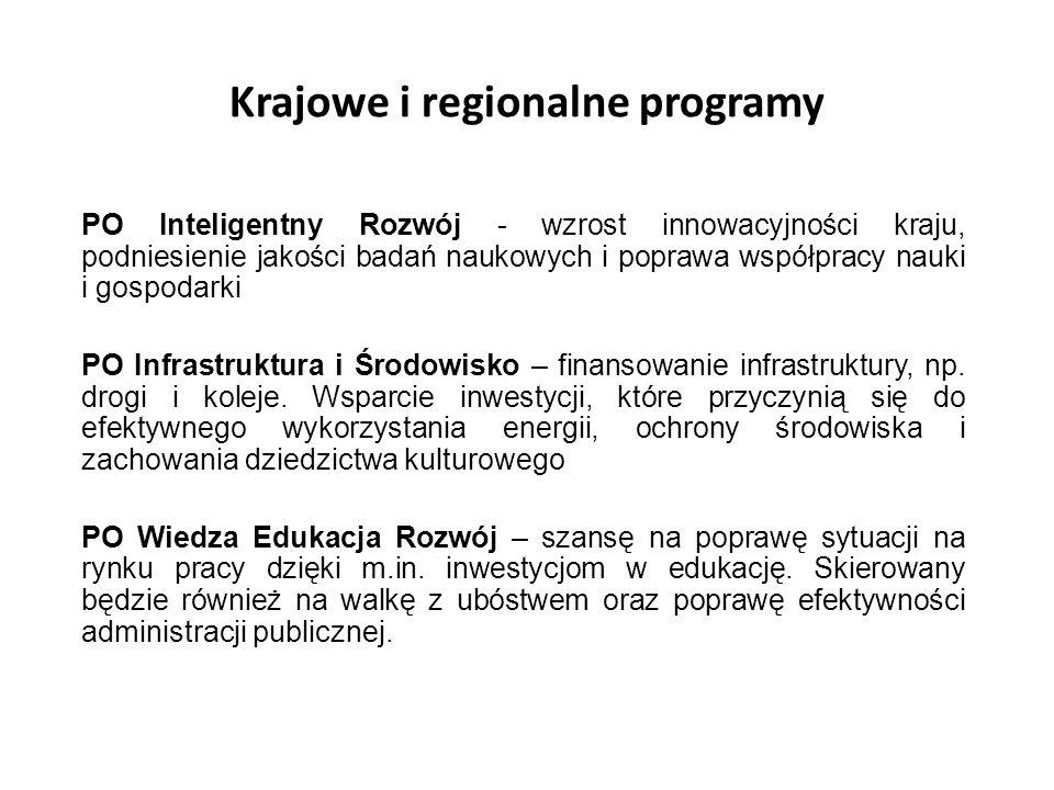 Krajowe i regionalne programy