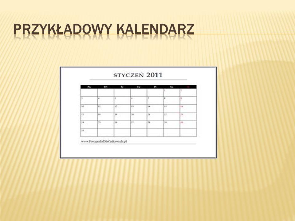 Przykładowy kalendarz