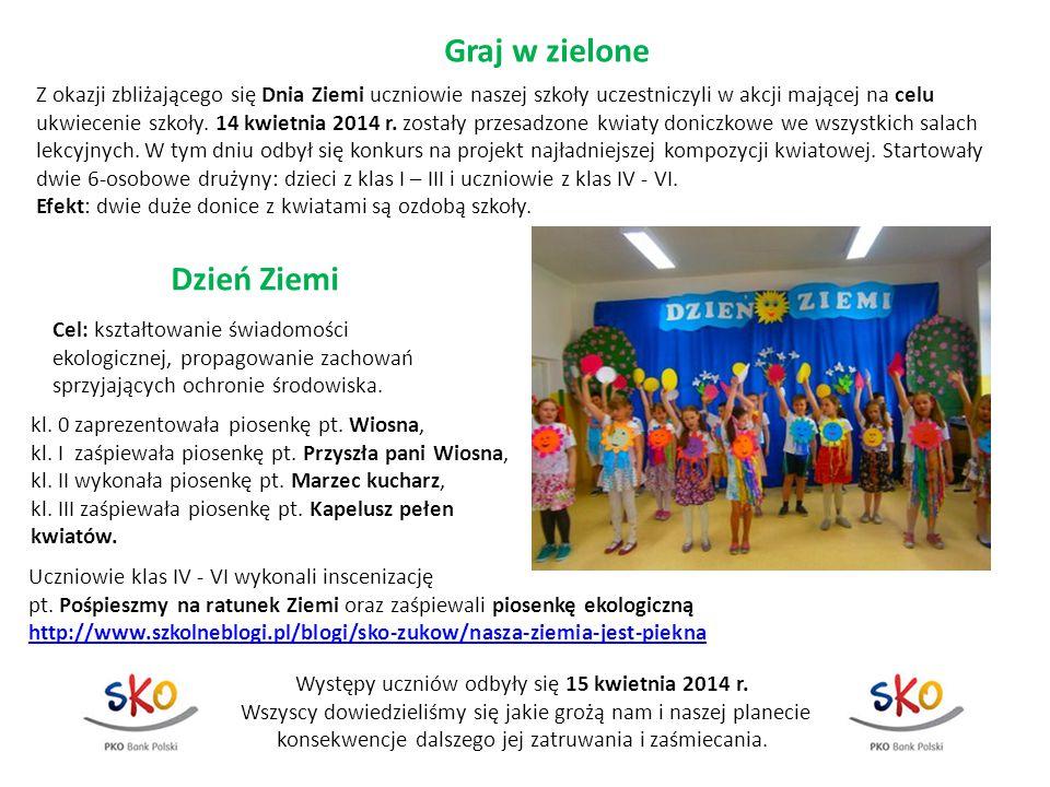 Występy uczniów odbyły się 15 kwietnia 2014 r.