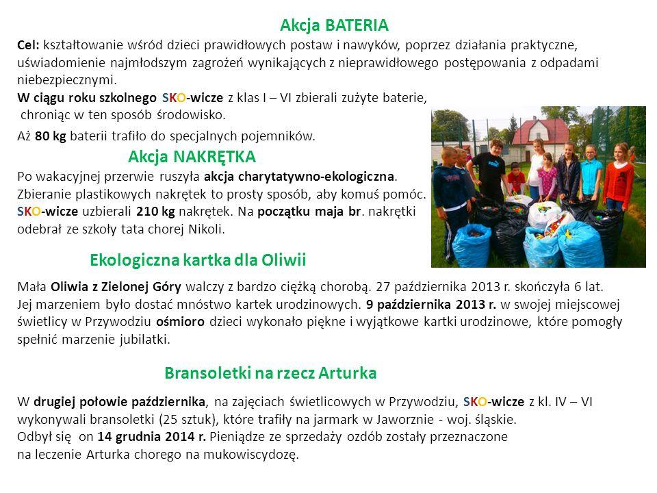 Ekologiczna kartka dla Oliwii