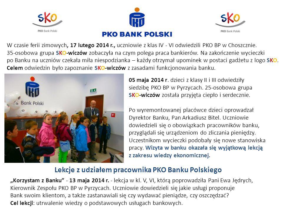 Lekcje z udziałem pracownika PKO Banku Polskiego