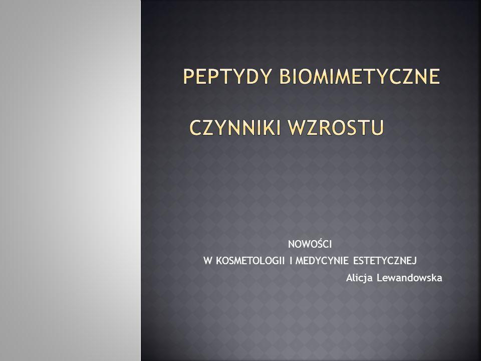Peptydy biomimetyczne czynniki wzrostu
