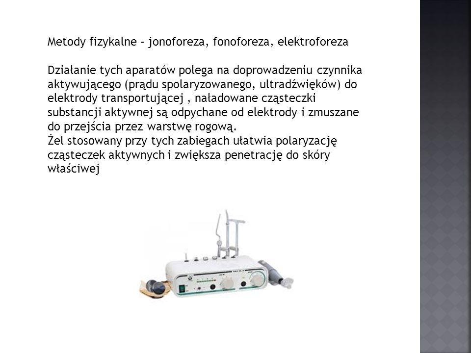 Metody fizykalne – jonoforeza, fonoforeza, elektroforeza