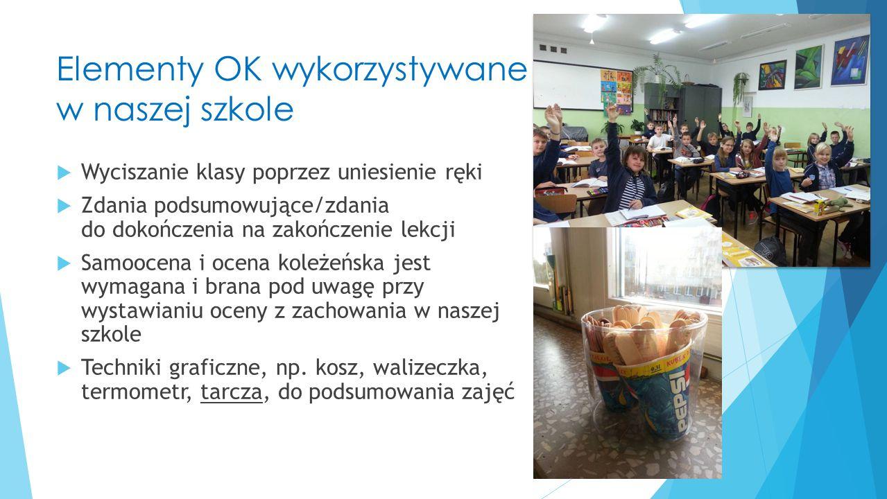 Elementy OK wykorzystywane w naszej szkole