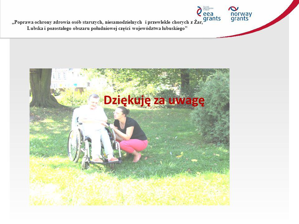 """""""Poprawa ochrony zdrowia osób starszych, niesamodzielnych i przewlekle chorych z Żar, Lubska i pozostałego obszaru południowej części województwa lubuskiego''"""