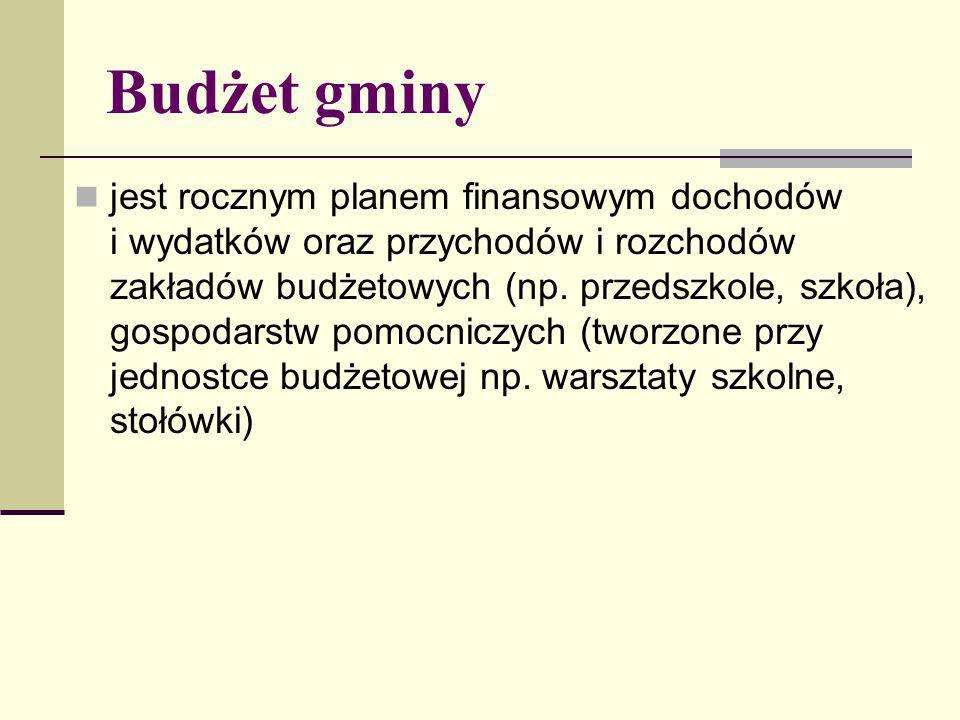 Budżet gminy