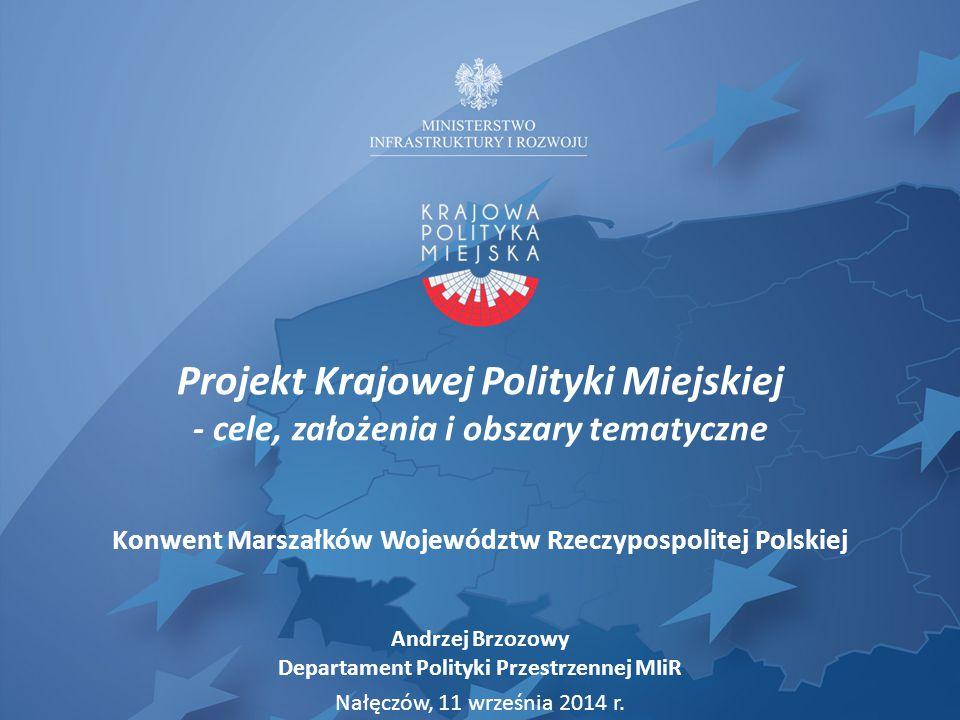 Projekt Krajowej Polityki Miejskiej