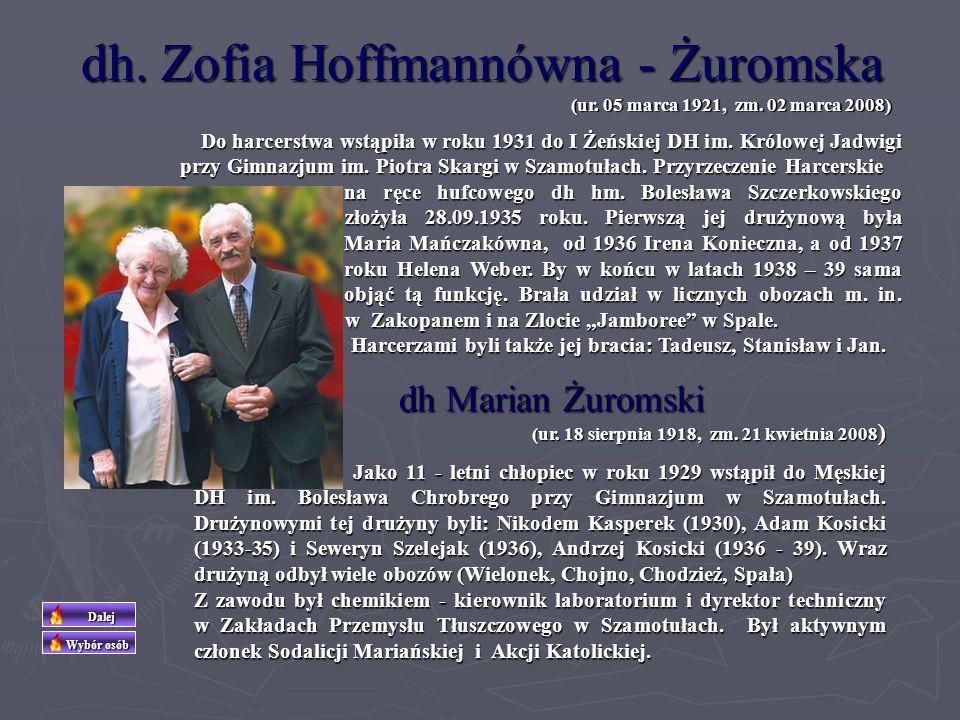 dh. Zofia Hoffmannówna - Żuromska