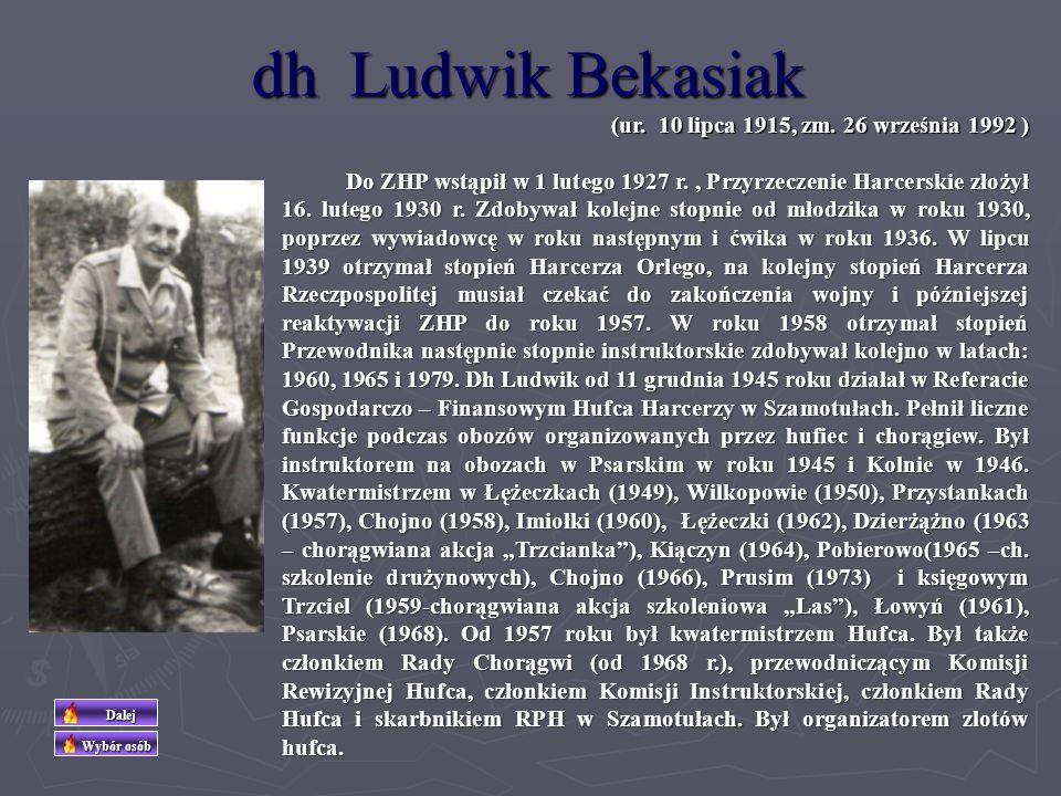 dh Ludwik Bekasiak (ur. 10 lipca 1915, zm. 26 września 1992 )