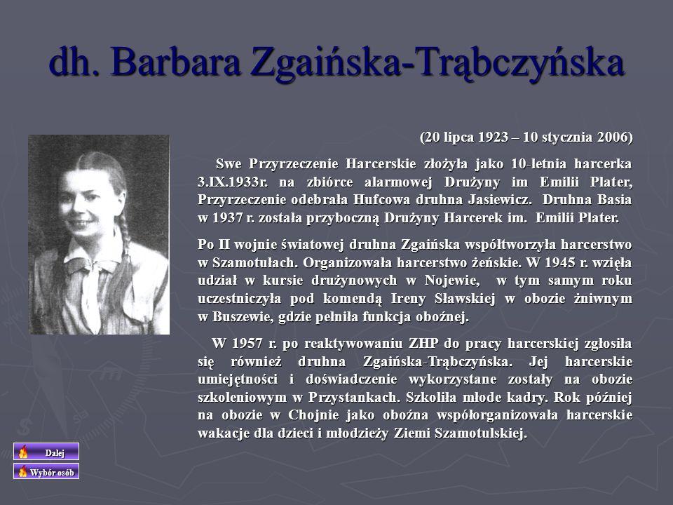 dh. Barbara Zgaińska-Trąbczyńska
