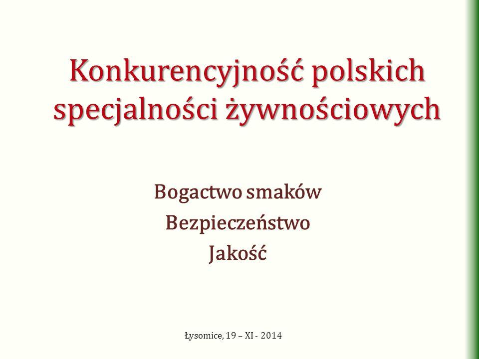 Konkurencyjność polskich specjalności żywnościowych