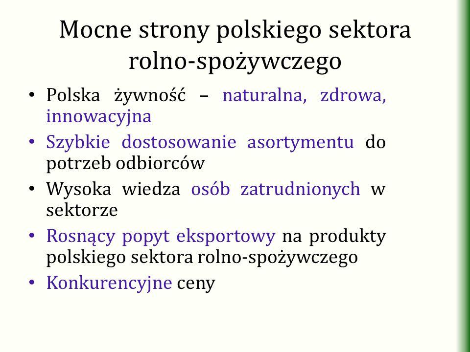 Mocne strony polskiego sektora rolno-spożywczego