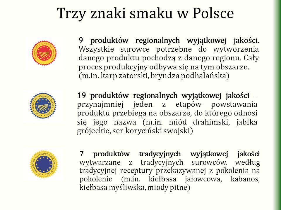 Trzy znaki smaku w Polsce