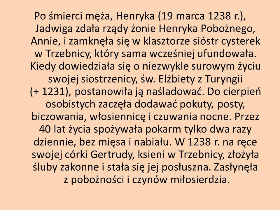 Po śmierci męża, Henryka (19 marca 1238 r