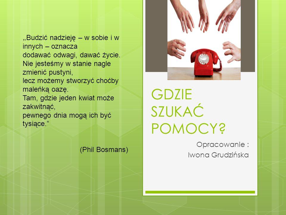 Opracowanie : Iwona Grudzińska