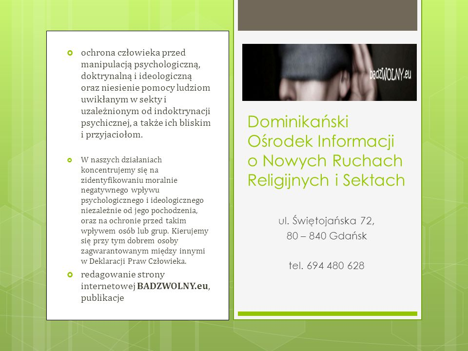 Dominikański Ośrodek Informacji o Nowych Ruchach Religijnych i Sektach