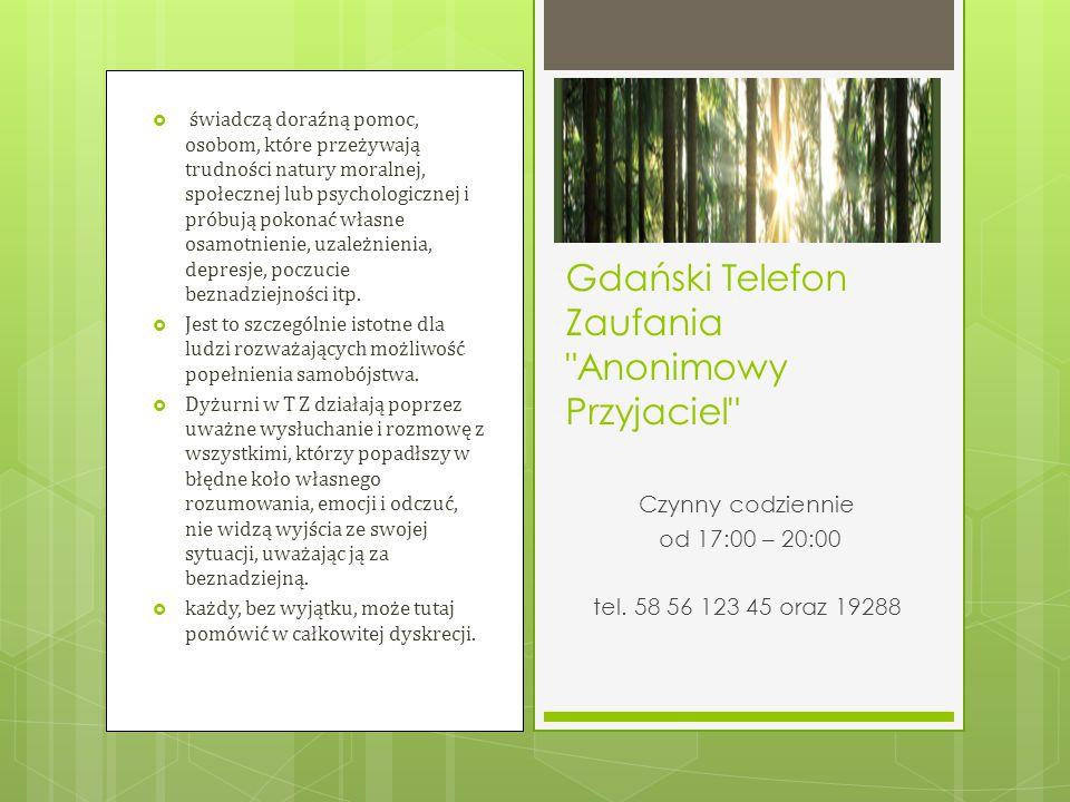 Gdański Telefon Zaufania Anonimowy Przyjaciel