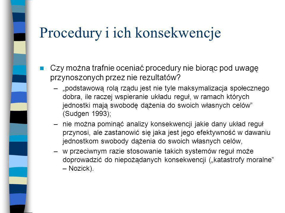 Procedury i ich konsekwencje