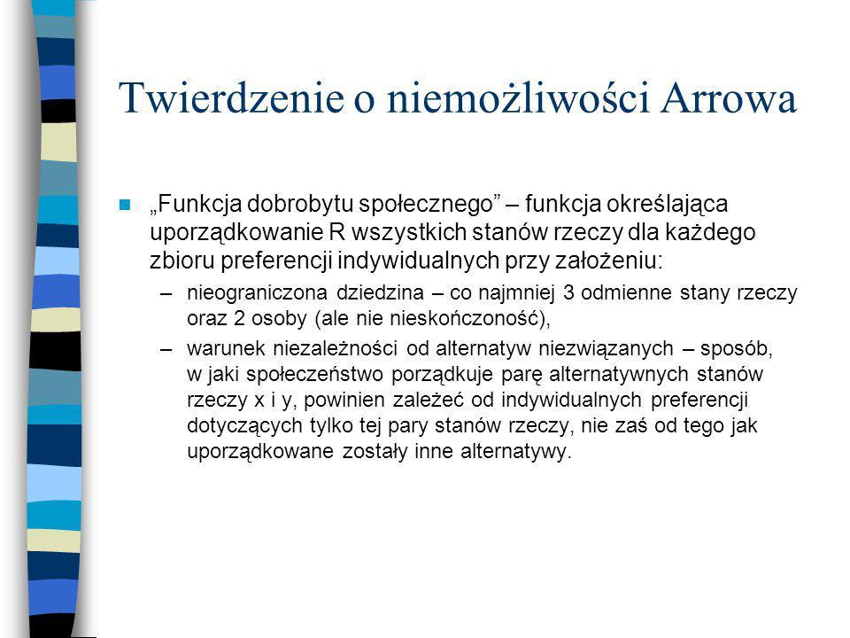 Twierdzenie o niemożliwości Arrowa
