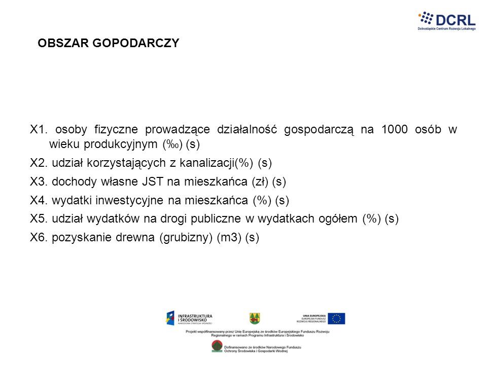OBSZAR GOPODARCZY X1. osoby fizyczne prowadzące działalność gospodarczą na 1000 osób w wieku produkcyjnym (‰) (s)