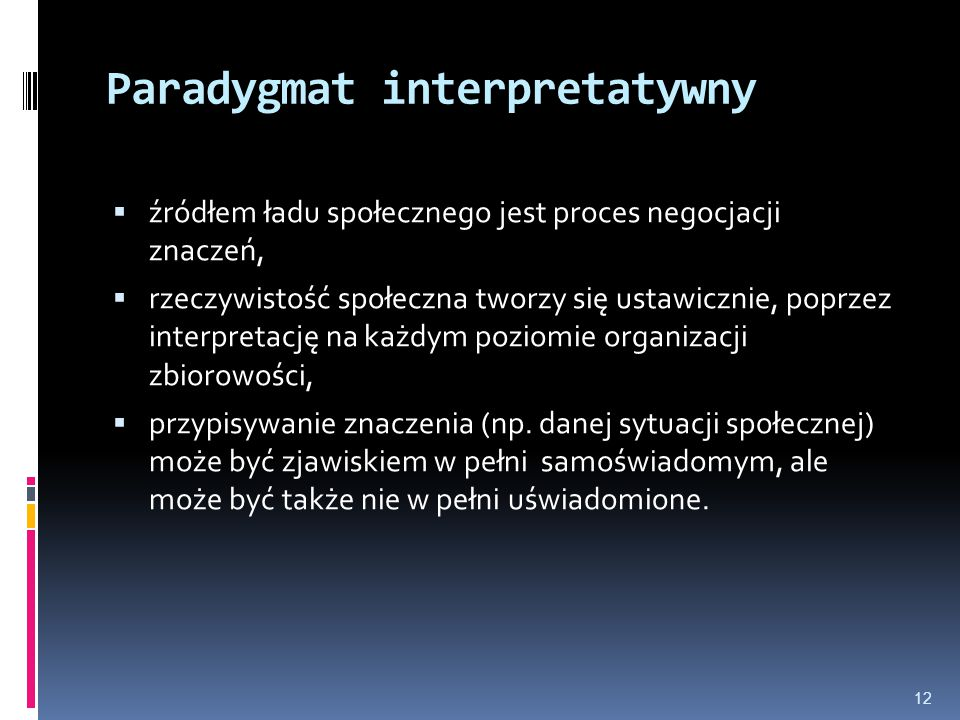 Paradygmat interpretatywny