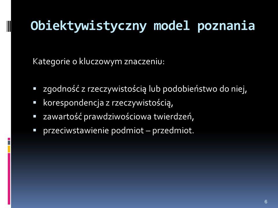 Obiektywistyczny model poznania