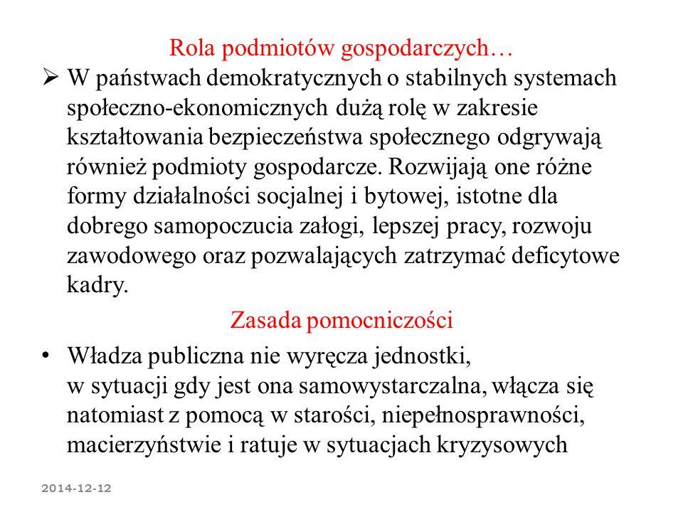 Rola podmiotów gospodarczych…