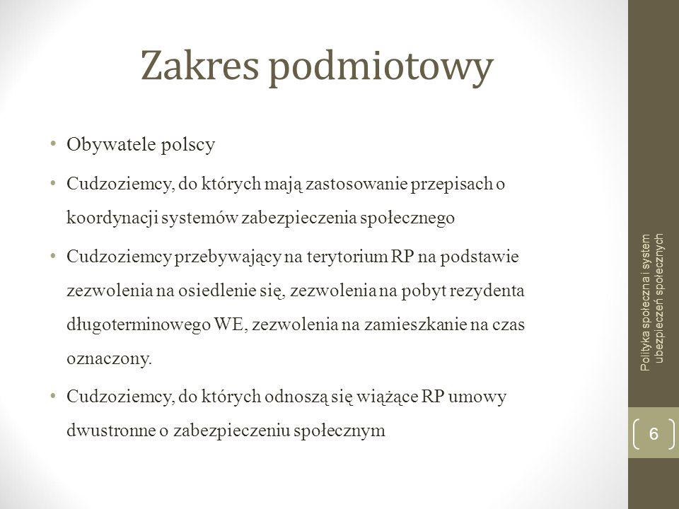 Zakres podmiotowy Obywatele polscy