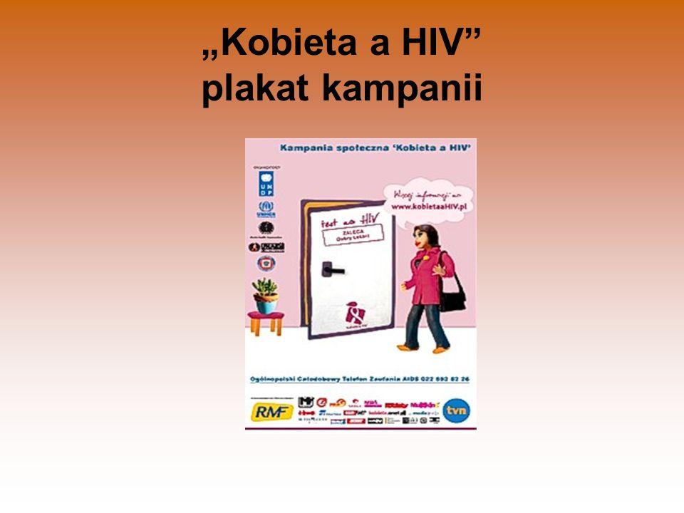 """Kobieta a HIV plakat kampanii"