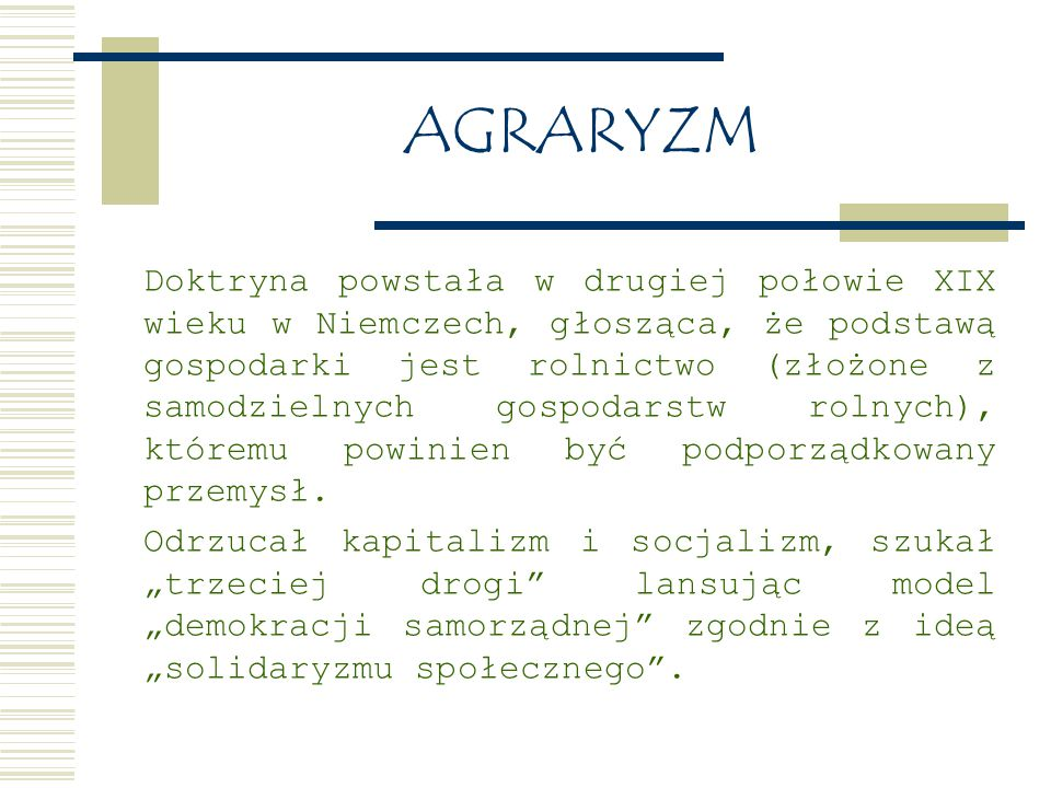 AGRARYZM