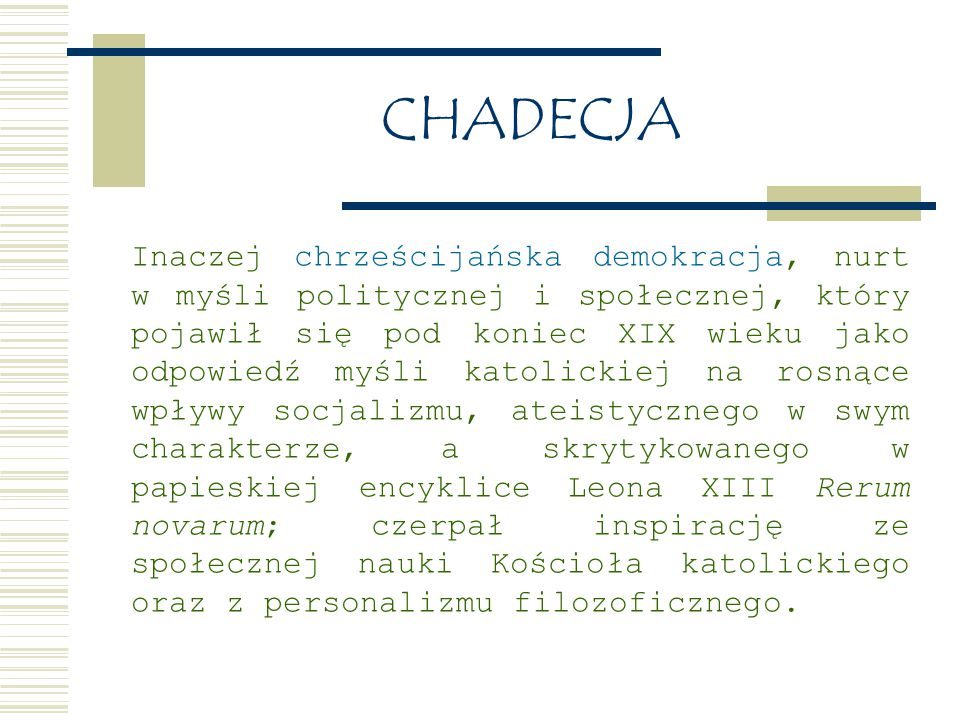CHADECJA