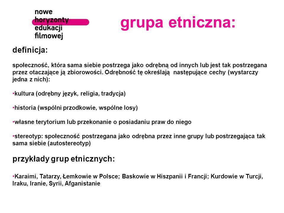 grupa etniczna: definicja: przykłady grup etnicznych: