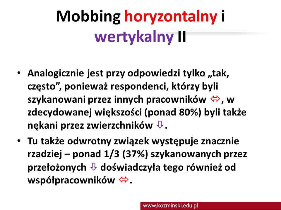 Mobbing horyzontalny i wertykalny II