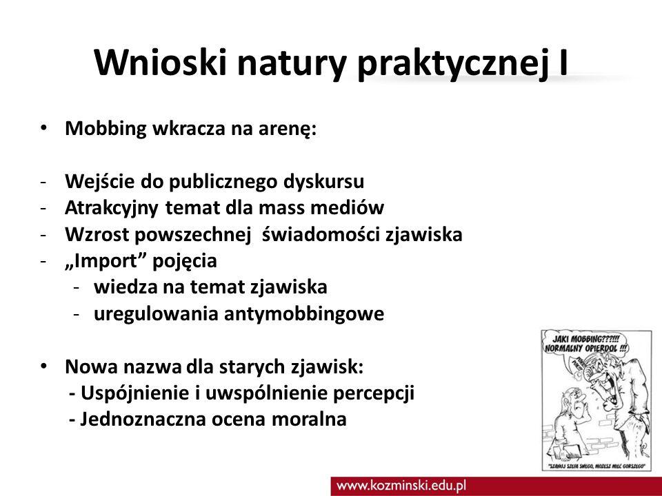 Wnioski natury praktycznej I