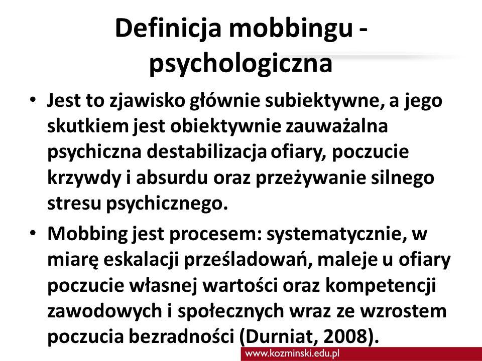 Definicja mobbingu - psychologiczna