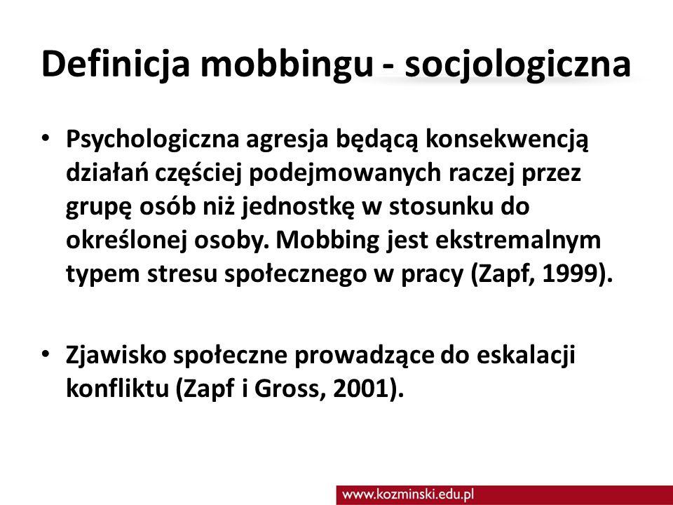 Definicja mobbingu - socjologiczna