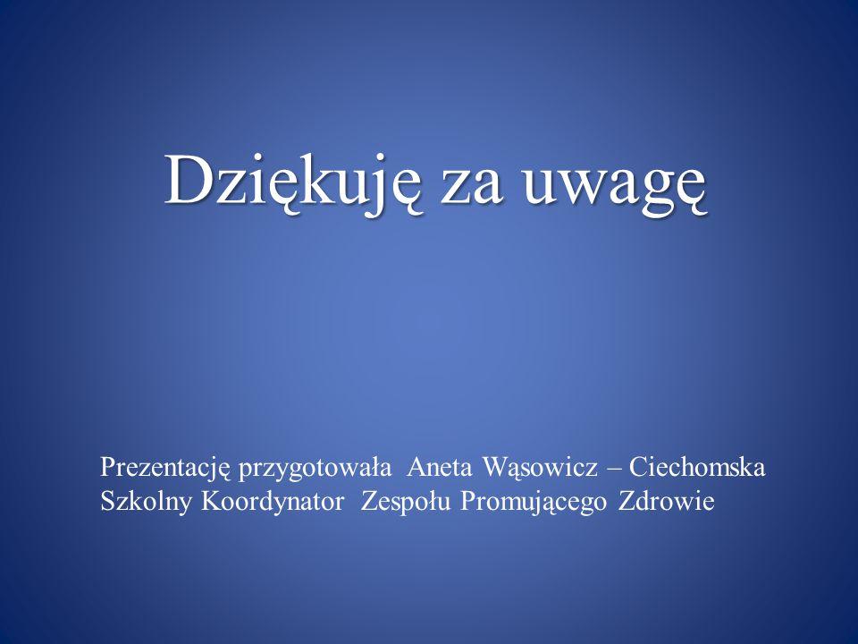 Dziękuję za uwagę Prezentację przygotowała Aneta Wąsowicz – Ciechomska