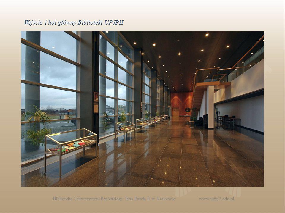 Wejście i hol główny Biblioteki UPJPII