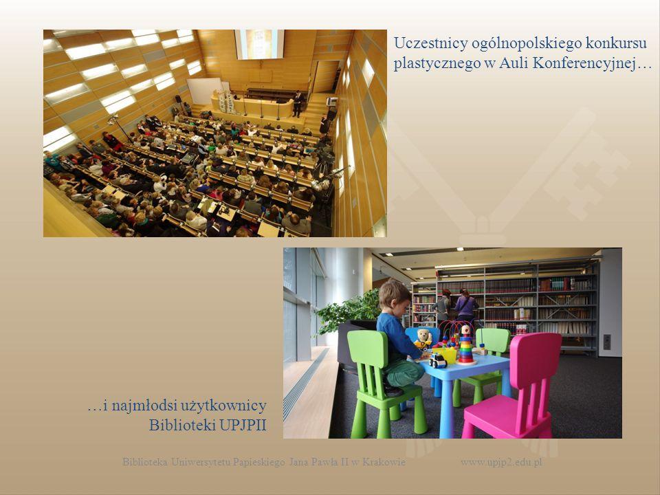…i najmłodsi użytkownicy Biblioteki UPJPII