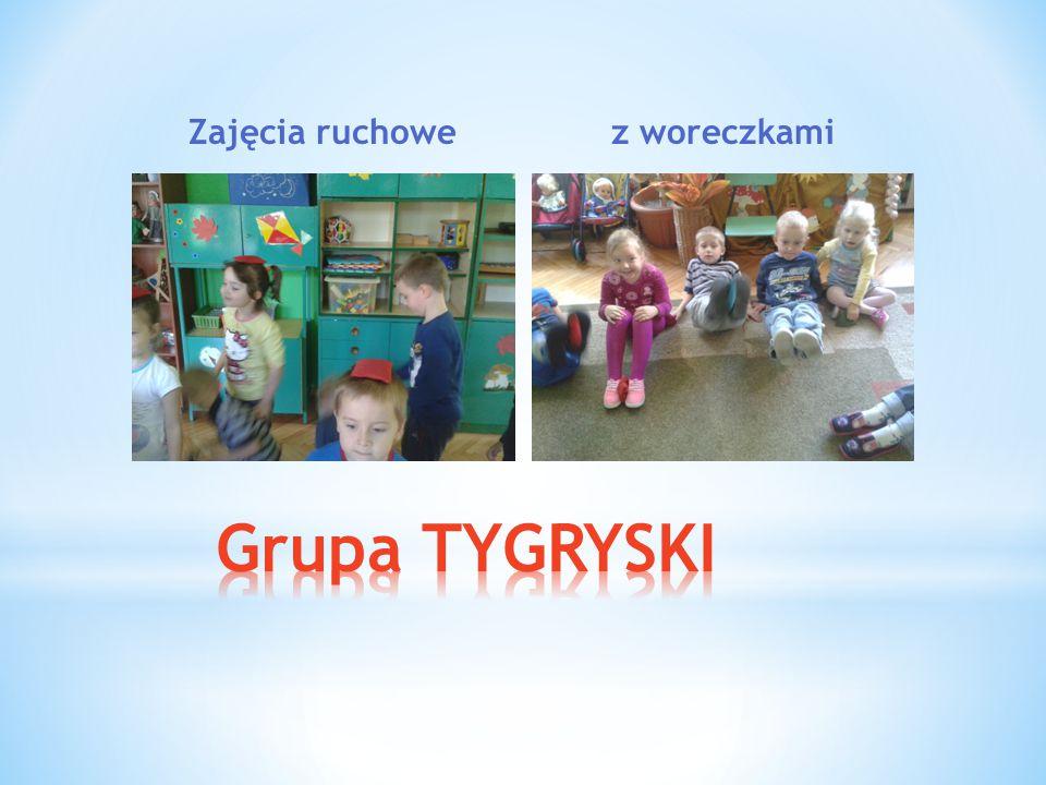 Zajęcia ruchowe z woreczkami Grupa TYGRYSKI