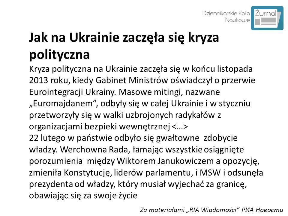 Jak na Ukrainie zaczęła się kryza polityczna