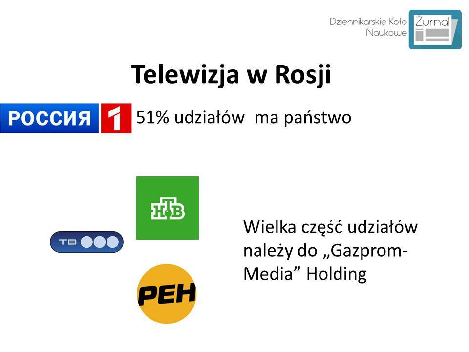 Telewizja w Rosji 51% udziałów ma państwo