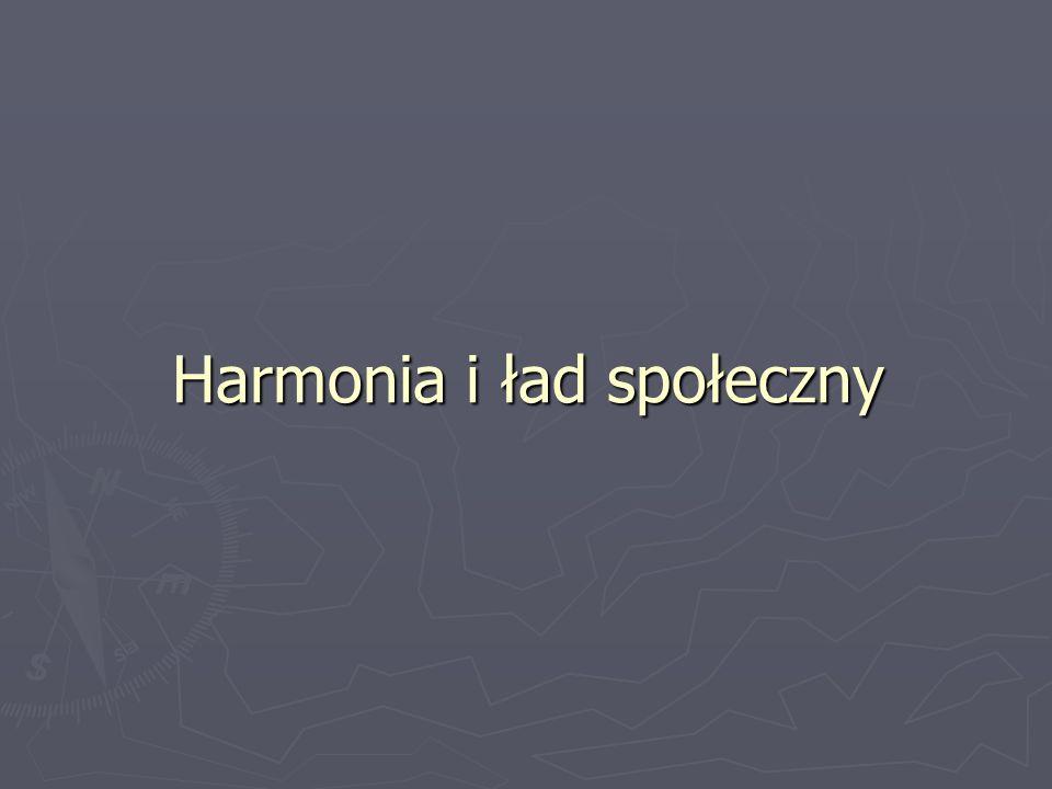 Harmonia i ład społeczny